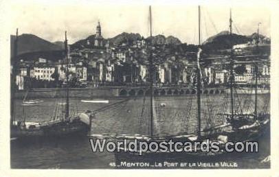 Le Port et la Vieille Ville Menton, France, Carte, Unused