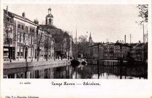 CPA SCHIEDAM Lange Haven NETHERLANDS (602149)