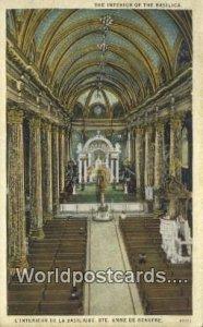 The Basilica Ste Anne De Beaupre Canada Unused