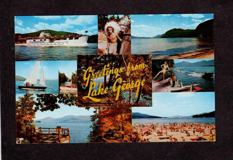Ny greetings from haverstraw new york postcard linen pc hippostcard ny greetings from lake george adirondacks ticonderoga ship new york postcard m4hsunfo
