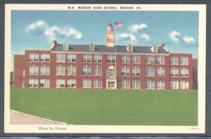 Virginia colour PC High School Marion, VA, unused
