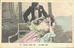 Victorian Style Romantic Couples Beautiful Dressed Postcard Lot of 8    01.18