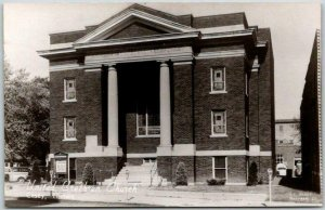 CASEY, Illinois RPPC Real Photo Postcard United Brethren Church Street View