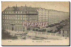 Old Postcard Marseille Les Docks