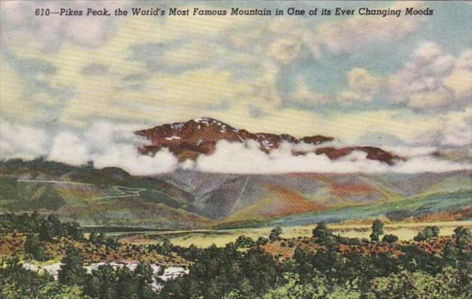 Colorado Pikes Peak In One Of Its Changing Moods 1947