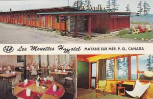 3-views, Les Mouettes Motel,  Matane sur Mer,  Quebec,  Canada,  40-60s