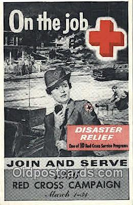1956 Campaign Red Cross Postcard Postcards  1956 Campaign