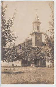 Pennsylvania Pa Postcard c1910 ST CLAIRSVILLE Real Photo RPPC Lutheran Church