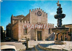 Postcard Modern Taormina Cathedral Square