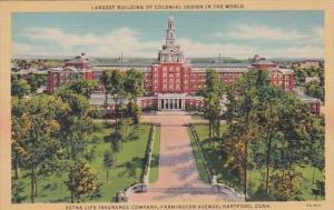 Connecticut Hartford Aetna Life Insurance Company Building Curteich