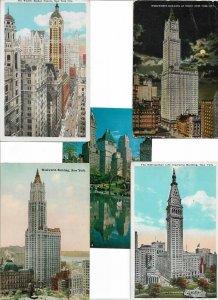 USA New York City Postcard Lot of 10 01.11