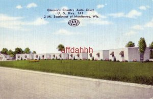 GLAESER'S COUNTRY AUTO COURT, on U.S. 141 MANITOWOC, WI. Bernie & Agnes Glaeser