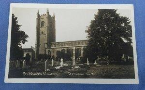 Vintage  Real Photo Postcard St.Mary's Church Dedham  Essex  C1