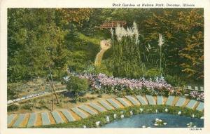 Decatur Illinois~Nelson Park~Rock Garden~Pavement Bricks Path~Bridge~1952 PC