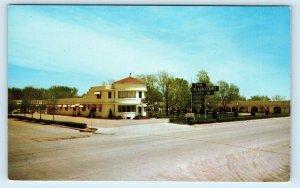 OGALLALA, NE~ ERIN PLAZA COURT & Motel  c1950s Lincoln Highway Roadside Postcard