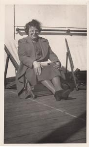 MV Dunvegan Castle Ship Steamship 1939 at Portugal WW2 War Real Photo Postcard