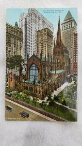 Trinity Church showing Sky Scrapers. New York City