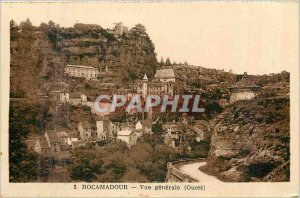 Old Postcard Rocamadour general view west