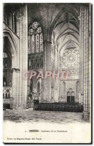 Postcard Old Troyes Inside the cathedral