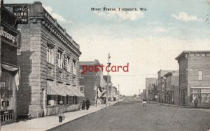 1917 LADYSMITH WI Miner Ave, postmarked SOO & MNPLS Railway Post Office Train 8