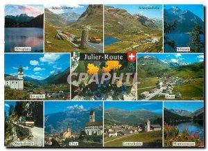 Modern Postcard Silvaplana Julier Route Julierpasshole Silsersee Savognin Bivio