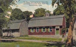 Connecticut Norwichtown Dr Daniel Lathrop School Built 1783 And Joseph Carpen...