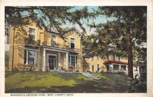 E31/ West Liberty Ohio Postcard c1910 Mennonite Orphans Home Building