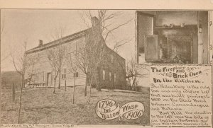 Lima NY New York - Yellow Wasp Inn 1796 to 1906 - Fireplace and Brick Oven - UDB