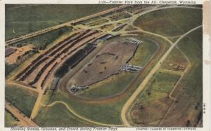 CHEYENNE, Wyoming, 10s-20s; Frontier Park from the Air, Stands, Grounds & Crowd