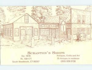 1980's SCRANTON ANTIQUES SHOP South Woodstock - Near Putnam CT hp1409