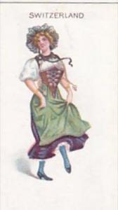Wills Scissors Cigarette Card Dancing Girls No 26 Switzerland