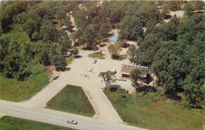 Linn Creek Missouri~Ozark Trails Campground Aerial View~1960s Postcard