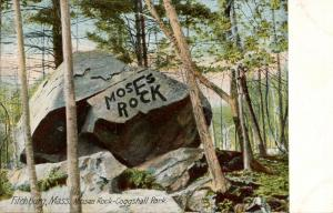 MA - Fitchburg, Coggshall Park. Moses Rock
