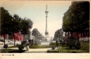 Baltimore, Maryland - The Thomas Wildey Monument on Broadway - c1905