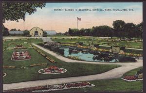 Sunken Garden,Mitchell Park,Milwaukee,WI Postcard