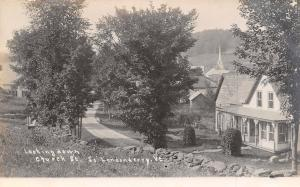 South Londonderry VT 1st Baptist Church (Fire Loss 2010) Country Home RPPC c1906
