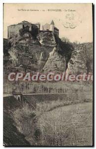 Old Postcard The Tarn et Garonne Bruniquel Chateau