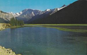 Sunwapta River, View On Icefield Highway, Jasper Park, Alberta, Canada, 40-60s