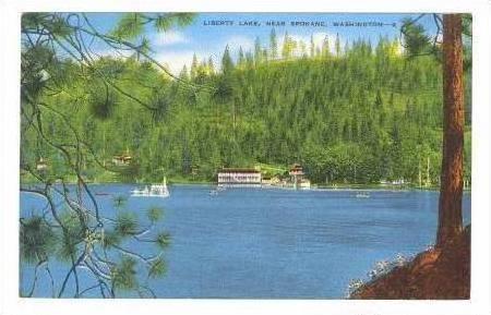 Water Front View, Liberty Lake, near Spokane, Washington, 30-40s