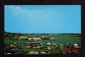 MA HYANNIS Harbor CAPE COD MASS Cruise Boat Postcard Massachusetts