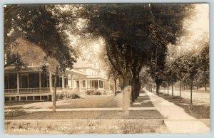 Vermillion SD~402 (Now Kober Funeral Home) & 408 E Main Street~RPPC c1910 PC