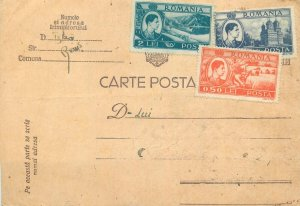 Correspondence Romania postal stationery postcard
