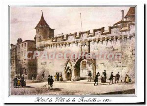 Modern Postcard La Rochelle City History I'Entree From I'Hotel Town in 1850