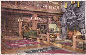 Fireplace Yellowstone Park Old USA Postcard