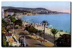 Old Postcard Nice Mont Boron And The Promenade Des Anglais