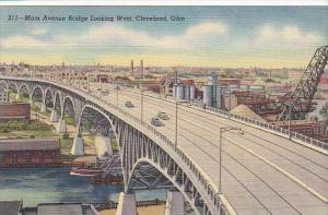 Ohio Cleveland Main Avenue Bridge Looking West