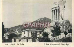 Old Postcard La Turbie Tower Augustus and the Mont Agel
