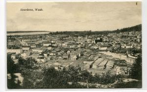 Panorama Aberdeen Washington 1910c postcard