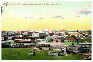 Oklahoma  Aerial View of  Oklahoma City     Wholesale District