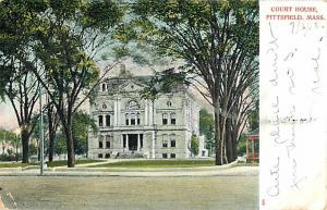 Court House, Pittsfield, Massachusetts MA 1910 UNDivided Back